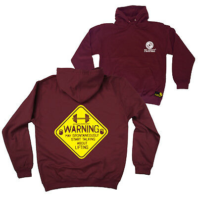 FB Gym Bodybuilding Hoodie Warning Talking About Lifting Novelty Hoody Jumper
