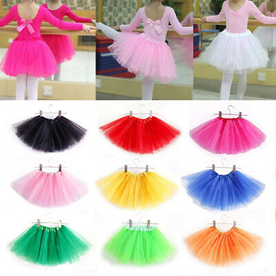 3 Layer Toddler Kids Girls Tutu Skirt Dress Up Costume Party 3-8 Year Old