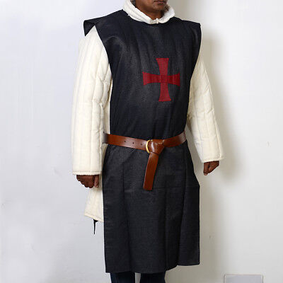 Tabard Black with Red Cross
