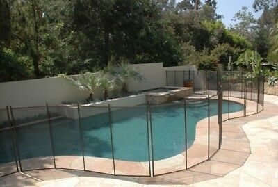 Brown Pool Safety Fence 4' high with 1 gate - 60 feet - Childproof your Pool