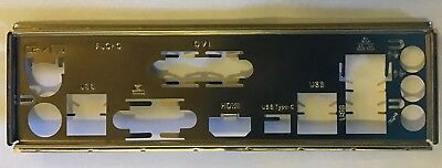 I/O Backplate for ASRock AB350M Pro4 mATX AM4 Motherboard - Shield Plate Only
