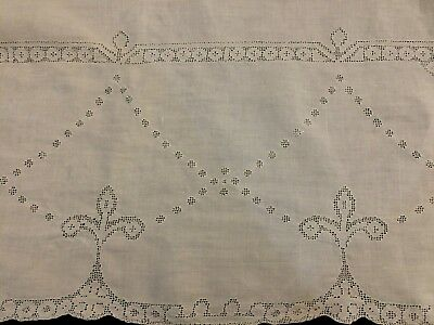Beautiful Antique Victorian Vintage tablecloth buffet