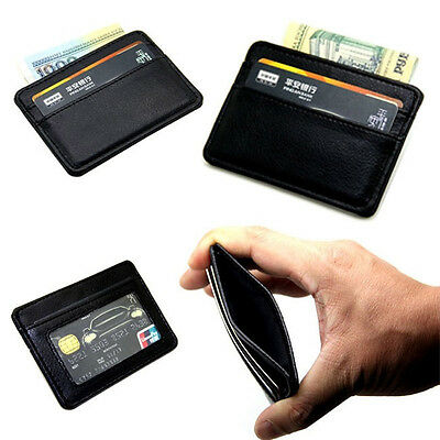 Man Mini PU Leather Wallet ID Card Credit Cards Holder Case Bag Coin Purse Pouch