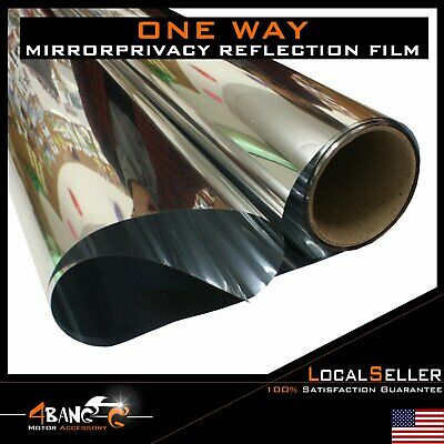 """Uncut Roll Chrome Window Tint Film Interior Privacy Home Office Glass 24""""x60"""""""