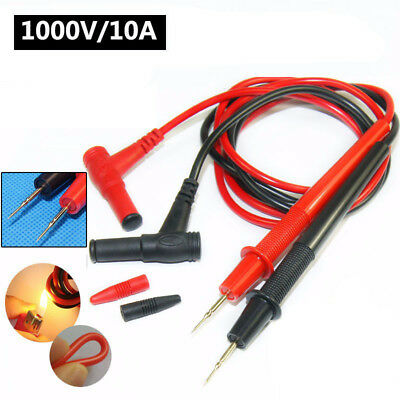1 Pair Universal Digital Voltmeter Multimeter Leads Probe Test Cable 1000V 10A