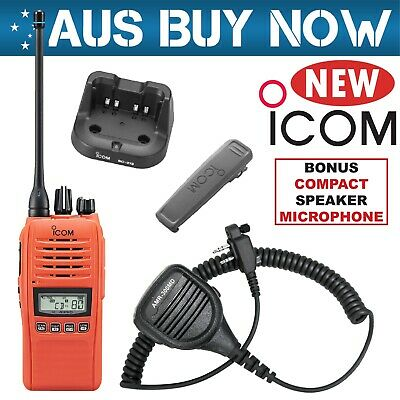 ORANGE ICOM IC-41PRO UHF CB TWO WAY RADIO PORTABLE HANDHELD HAND HELD Safety GME