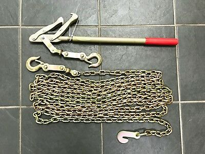 Brand New Chain Strainer Wire Fence Pull Stretcher Tensioner 6 Metre Chain