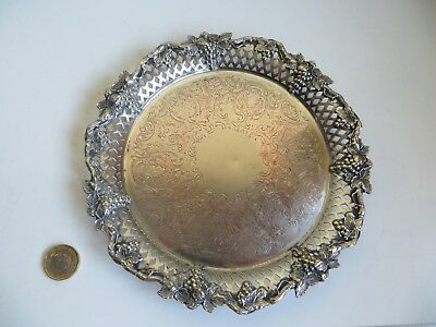 Old Antique? Barker Ellis Silver Plate Plated Champagne Wine Bottle Coaster Tray