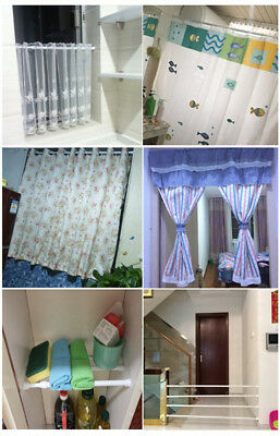 Extendable Telescopic Spring Loaded Net Voile Tension Curtain Rail Pole Rod DT4C