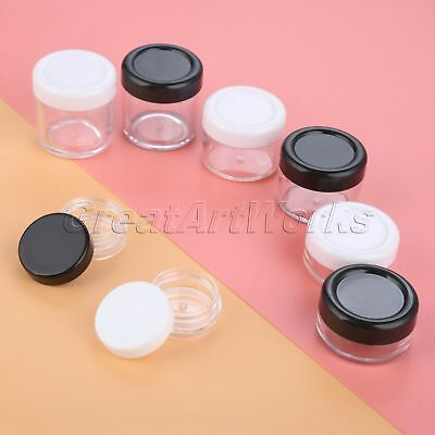 5pcs Refillable Cream Jars Cosmetic Container Plastic Sample Pot  3g 10g 15g 20g