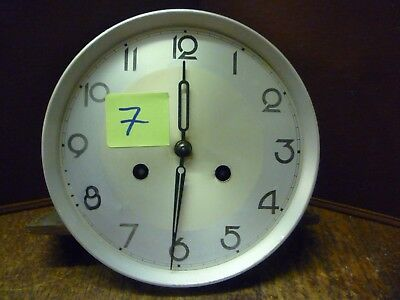 Original Art Deco Striking Wall Clock Spring Driven Movement+Dial (7)