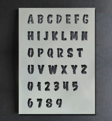 Halloween Stencil Alphabet A-Z 0-9 Letters Numbers Paint Customise Reusable