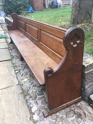 LOVELY ANTIQUE SOLID CHURCH CHAPEL PEW Free Delivery In Local Area.
