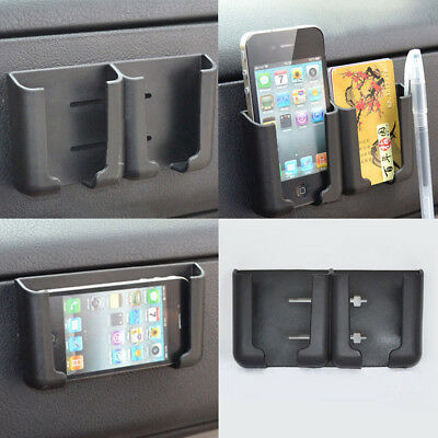 Universal Car interior Phone Pen Organizer Storage Bag Box Holder Black Cradle