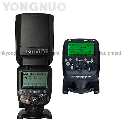Yongnuo YN600EX-RT II + YNE3RT II Flash Speedlite Transmitter TTL HSS for Canon