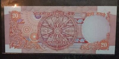 India 20 Rupees Note Full Chakar Sing By R N Malhotra