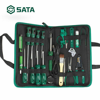 SATA Tools Electrician Screwdriver Set Electrical Canvas Bag (19-Piece) 03770