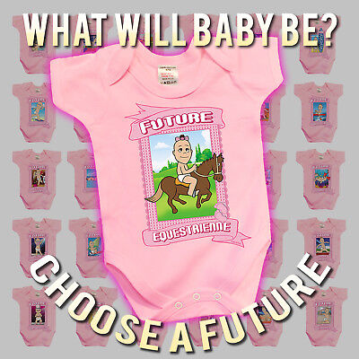 BritTot Babies FUTURE Collection - Girls Funny Baby Grow Vest Sleepsuit