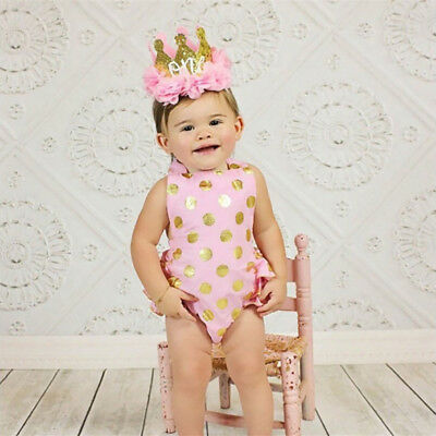 1St Birthday Glitter Crown Gauze Flower Headband Babay Girls Photo Prop Smart
