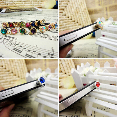9CE4 Colorful Diamond Dustproof Phone Dust Plug Fashion Ornament Accessory