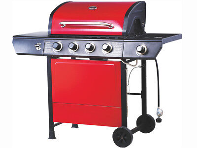 Emberman Grill King 4 Burner Barbecue Red