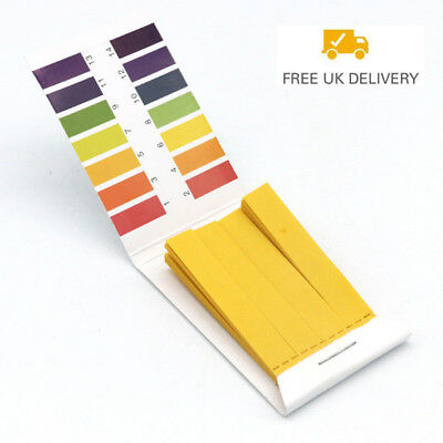 1/4Set 80 pH 1-14 Full Range Litmus Test Paper Strips Tester Indicator Urine SUN