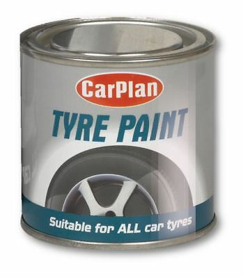 Car Plan Tyre Paint Black Tire Shine Paint Tin Auto Care Cleaning Rubber 250ml