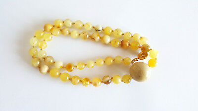 20g NATURAL BALTIC AMBER NECKLACE PENDANT EGG YOLK BUTTERSCOTCH AMBER 老琥珀