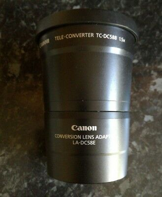 Canon TC-DC58B 1.5 x Tele Converter Complete with Adapter