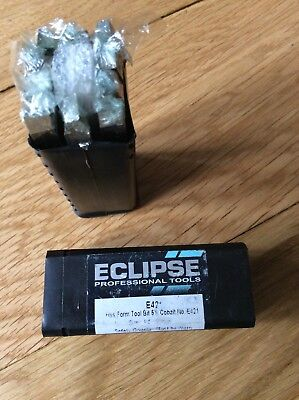 "BOX OF 10 ECLIPSE LATHE FORM TOOLS E421  1/4"" X 90mm."