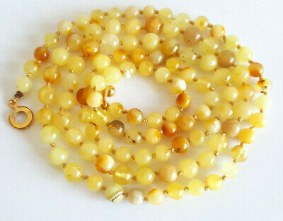90cm 19g NATURAL BALTIC AMBER NECKLACE PENDANT EGG YOLK BUTTERSCOTCH AMBER 老琥珀