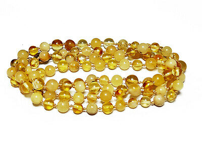 92cm 19g NATURAL BALTIC AMBER NECKLACE PENDANT EGG YOLK BUTTERSCOTCH AMBER 老琥珀