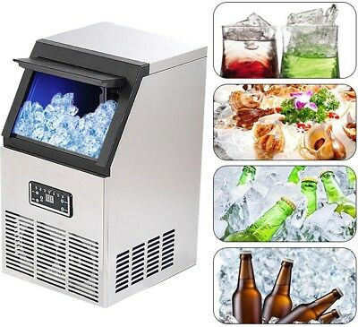 220V 40kg Auto Commercial Ice Maker Cube Machine Ice Machine Icemaker Ice Tools