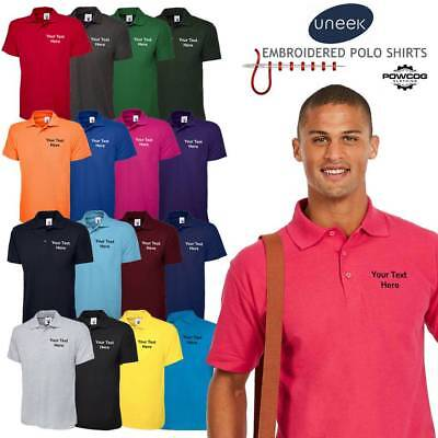 UNEEK 101 Embroidered High Quality Polo Shirt + FREE PERSONALISED CUSTOM TEXT