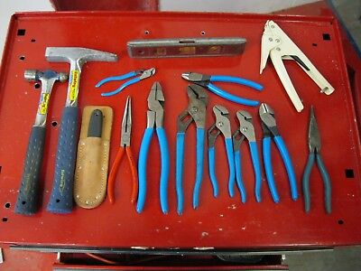 Channellock Estwing Knipex etc lot tools