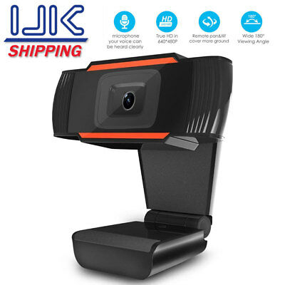 For Computer PC Laptop Skype HD 1080P 12MP USB 2.0 Webcam Camera w/ MIC Clip-on