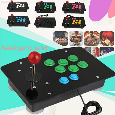 2974 Wired USB Acrylic Comfortable Arcade Fighting Stick Game Console Notebooks