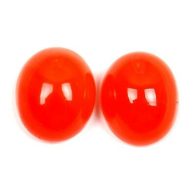 Lovely Cabochon 7.50 Cts Charming CARNELIAN Oval 1 Pair Gemstone 11x9 mm S-50254