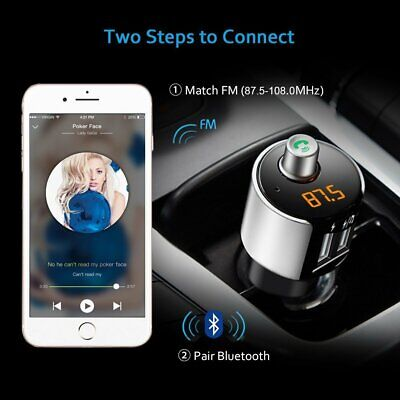 KFZ Bluetooth FM Transmitter Auto Bluetooth Radio MP3 Player 2 USB Adapter SD