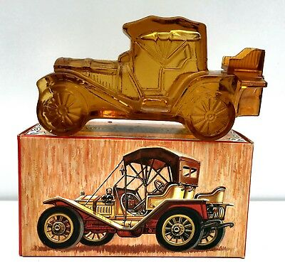 """VINTAGE AVON """"PACKARD ROADSTER"""" DECANTER NEW IN BOX w/AVON LEATHER MEN'S COLOGNE"""