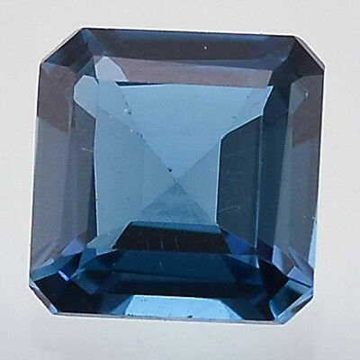 1.97 Cts Natural London Blue Topaz 7x7 mm Square Octagon Cut Gemstone LBT1021