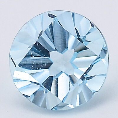 5 Ct AAA Natural Sky Blue Topaz Round Shape 10X10x6.7 mm Cut Loose Gemstone