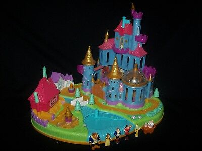 Near Complete Disney Polly Pocket Beauty and the Beast Magical Castle 1997