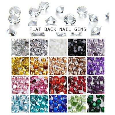 1000 PCS Choose Colour Crystal Flat Back Nail Art Face Festival Rhinestones Gems
