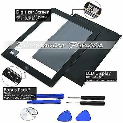 NEW For Apple iPad 2 Touch Screen Digitizer  LCD Display Black