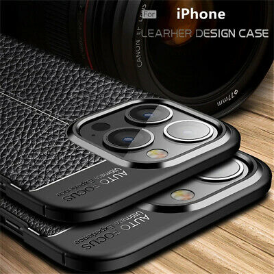 For iphone 11 Pro Xs Max Xr X 8 7 6S Silicone Rubber TPU Leather Back Cover Case