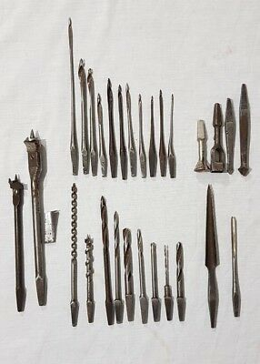 A Random Selection of 28 x Hand Brace Auger Drill Bits