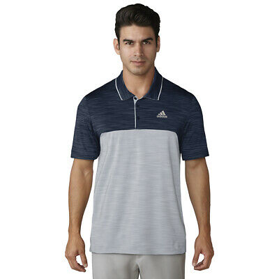 2018 Adidas Ultimate 365 Heather Blocked Polo Golf Shirt Multiple Color/Size