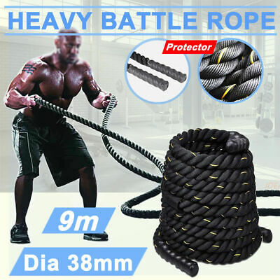 Battle Power Rope 38mm Battling Sport Bootcamp Gym Exercise Fitness Training 9M