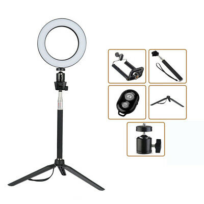 8'' Dimmable LED Ring Light Set Photography Selfie Light For Photo Camera USB #